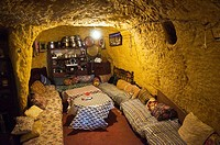 A traditional cave home in the village of Bhalil , Morocco.
