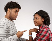 Young African-American couple facing off  © Katharine Andriotis
