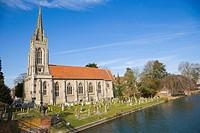 All Saints Church by Thames river. Marlow Street. Marlow. Buckinghamshire. England. UK.