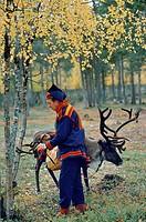 Finland, Lapland, Inari, Lapp reindeer breeder