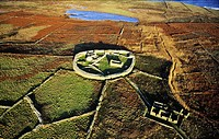 Inishmurray island, County Sligo, Ireland  Early Celtic Christian ring fort cashel monastic settlement and fisherman´s cottage