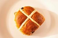 A hot cross bun