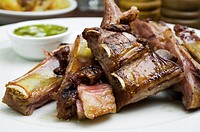 Beef rib Asado South American traditional dish in Argentina, Uruguay, Chile, and Paraguay