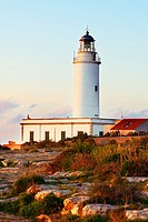 The lighthouse of La Mola in the island of Formentera Baleares, Spain