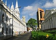 Panoramic of the Historic Centre, Caracas, Venezuela with a view of the Academic Palace and Capitol building