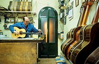 Antonio Morales Luthier Guitar maker Workshop  Cuesta de Gomerez 9  Granada, Andalucia, Spain