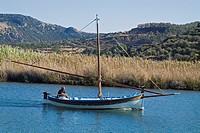 BOSA SARDINIA River Temo local traditional sailing boat