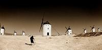 Windmill,Campo de Criptana,Toledo,Spain