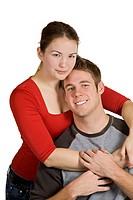 Caucasian couple having fun together