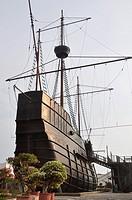 Malacca (Malaysia): the replica of the sunken Portuguese ship Flor De La Mar, part of the Maritime Museum
