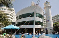 Pattaya (Thailand): A-ONE The Royal Cruise Hotel, ship-shaped hotel at Pattaya Beach