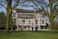 Little Moreton Hall, Cheshire, timber framed house Grade I listed building