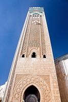 Morocco Casablanca (Dar el Beida) Hassan II Mosque (Minaret detail)