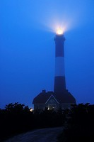 Foggy Night, Fire Island Lighthouse, Long Island, NY