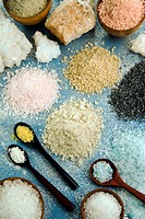 Various types of salt