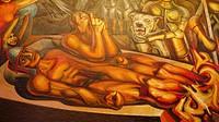 ´El tormento de Cuauhtemoc´ mural painting by David Alfaro Siqueiros, Palacio de Bellas Artes, Mexico City