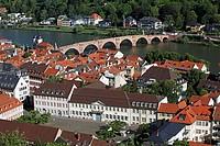 Heidelberg,old town,Karl Theodor Bridge,Old Bridge,Baden-Württemberg,Germany