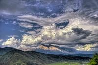 Storm Cloud over Peña Montanesa, Sieste,  Huesca province,  Pyrenees,  Spain