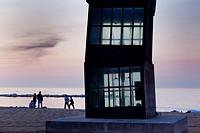 Playa de la Barceloneta, Barcelona, Spain.