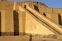 Iraq Ur Ziggurat with temple dedicated to the Moon God  Built 2100 BC it is the oldest of the stepped towers