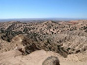New Mexico badlands, desert