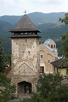 Serbia,Studenica Monastery,founded by Grand Prince Stefan Nemanja,late 12th century,Western Gate,Orthodox,christian,religious,exterior,outside,facade,...