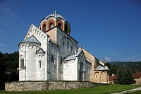 Serbia,Studenica Monastery,founded by Grand Prince Stefan Nemanja,late 12th century,Church of the Virgin,Orthodox,christian,religious,exterior,outside...