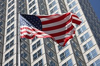 US flag, Miami, Florida, USA