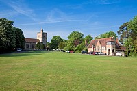 England Kent Benenden The Green with St  George´s Church and Village School Building