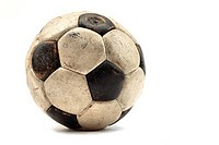 An old leather football