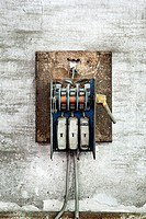 Old electric fuse box