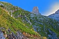 Pico Urriello (Naranjo de Bulnes). Picos de Europa National Park. Asturias. Spain.