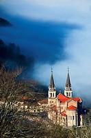 Basilica of Nuestra Señora de las Batallas. Covadonga. Picos de Europa National Park. Asturias. Spain