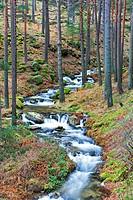 Waterfall. Cega River. Navafria. Segovia province. Castilla y Leon. Spain