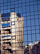 Mirror image of a building  Alicante  Valencia  Spain  Europe