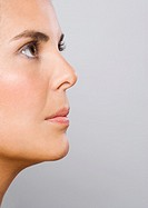 Woman profile, close up