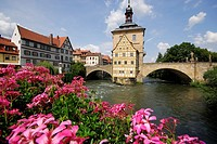 Obere Mühlbrücke ´High bridge´ in Bamberg, Bavaria, Germany