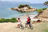 Cycling in Alcudia,Majorca, Spain