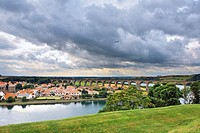 Panorama of the city, Berwick upon Tweed, England, UK