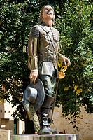 France, Aquitaine province, Departement of Dordogne 24, Bergerac   Statue of Cyrano de Bergerac who carries the name of this famous city of Dordogne  ...
