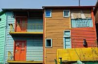 Houses, La Boca district, Buenos Aires, Argentina