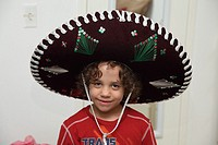 Child with Mexican hat