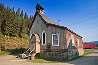 Wooden church in the old miner´s town of Barkerville, British Columbia, Canada