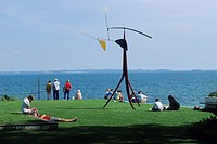 Denmark, Copenhagen county, Museum of Modern Art of Louisiana, Calder mobile and Oresund strait
