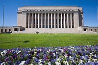 The Finnish Parliament House building in Helsinki Finland
