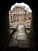 Teatro romano - Ruinas de la ciudad romana de Emérita Augusta, Patrimonio de la Humanidad - Mérida - Provincia de Badajoz - Extremadura - España
