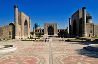 Registan Square in Samarkand, Unesco World Heritage Site, Silk Road, Uzbekistan, Central Asia