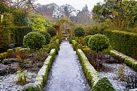 The frozen gardens of Belvedere House, Mullingar, County Westmeath, Ireland in December