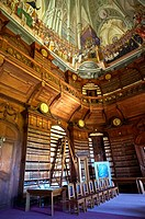 The Archdiocesan Library Eger in Lyceum, built by Count Karoly Eszterhazy with the ceiling fresco of the Tridentine council by Janos Lukacs Kracker  E...