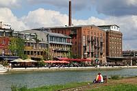 Germany, Muenster, Westphalia, Muensterland, North Rhine-Westphalia, city port, creative quay, warehouses, storage buildings